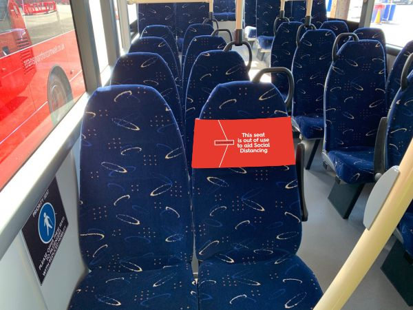 Covid-19 Bus Seat Wrap Graphics