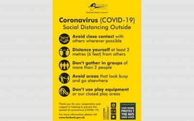 Fenland Council Coronavirus Signage